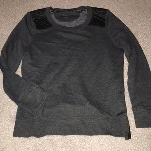 Calvin Klein leather accent sweatshirt